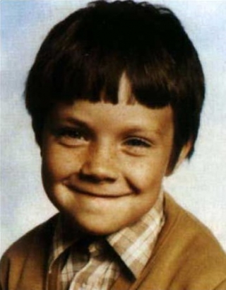Young Robbie Williams as a kid yearbook picture