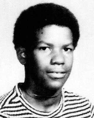 Young Denzel Washington yearbook picture