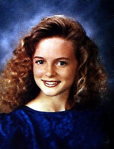 Young Heather Graham before she was famous yearbook picture