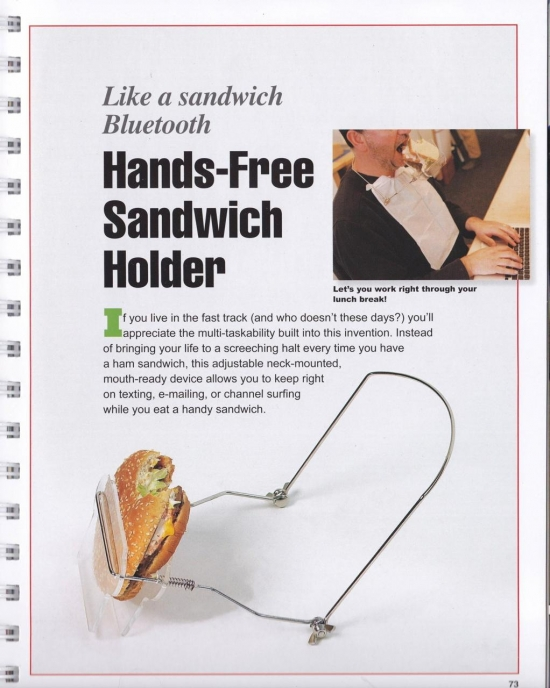 The hands-free sandwich holder