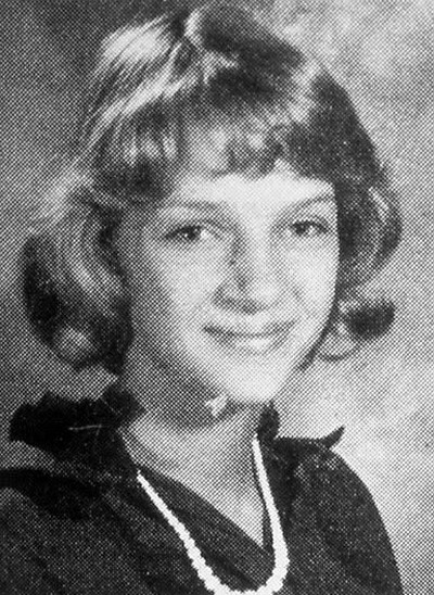 Young Uma Thurman before she was famous yearbook picture