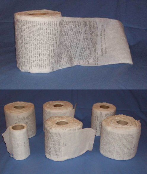 eBay item of the day: Moby Dick written on toilet paper