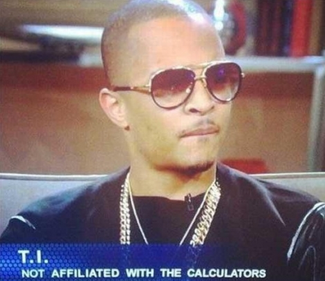 T.I. not affiliated with the calculators