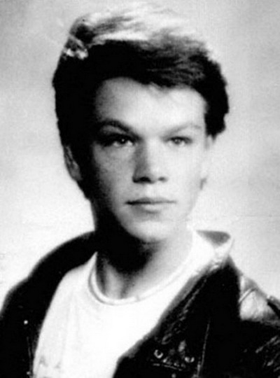 Young Matt Damon yearbook picture