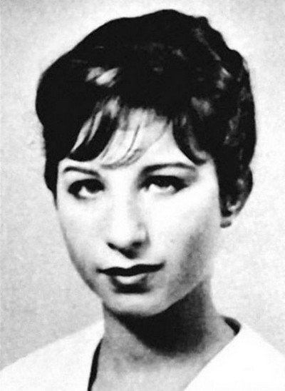 Young Barbara Streisand before she was famous yearbook picture