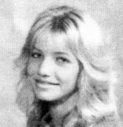 Young Cameron Diaz before she was famous yearbook picture