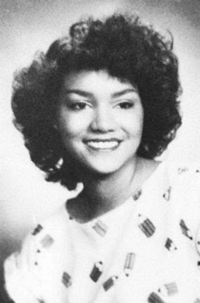 Young Halle Berry yearbook picture