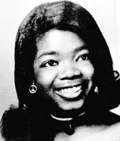 Young Oprah Winfrey yearbook picture