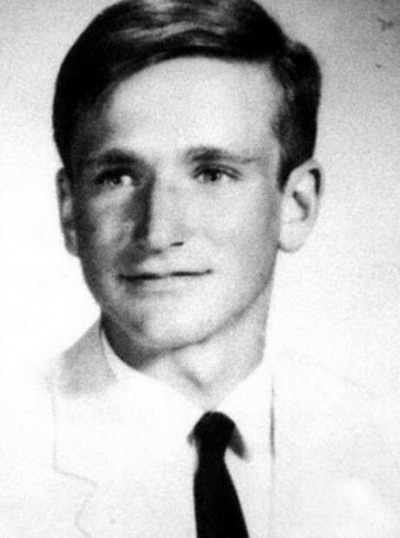 Young Robin Williams before he was famous yearbook picture