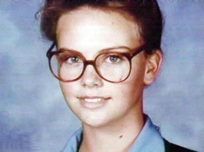 Young Charlize Theron yearbook picture