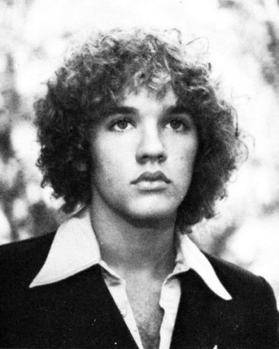 Young Michael Stipe before he was famous yearbook picture