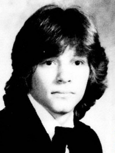 Young Jon Bon Jovi before he was famous yearbook picture