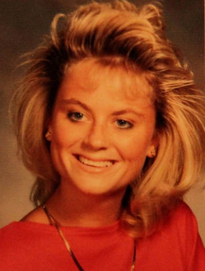 Young Amy Poehler before she was famous yearbook picture