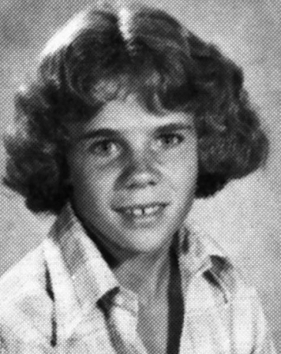 Young Flea before he was famous yearbook picture
