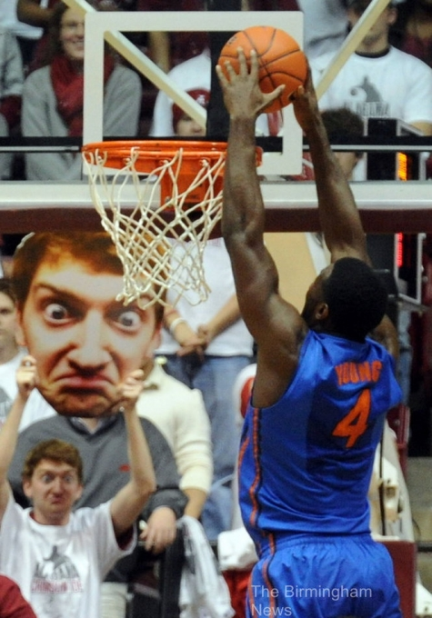 Googly eyes face cutout basketball fan