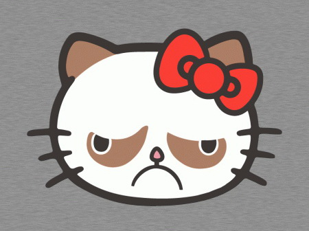 Grumpy Cat Hello Kitty t-shirt