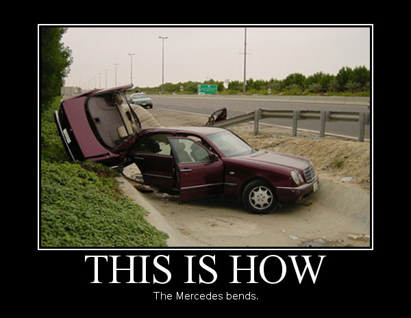 This is how the Mercedes bends