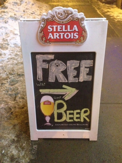 FREE wi-fi, great BEER
