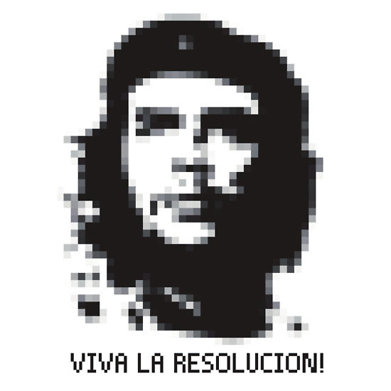 Pixelated Che Guevara shirt