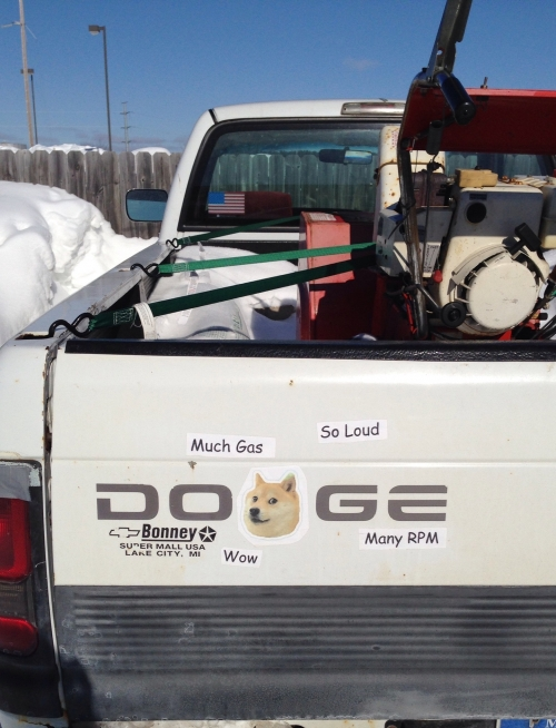 Doge Dodge pick-up truck