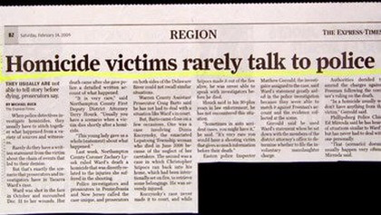 Homicide victims rarely talk to police