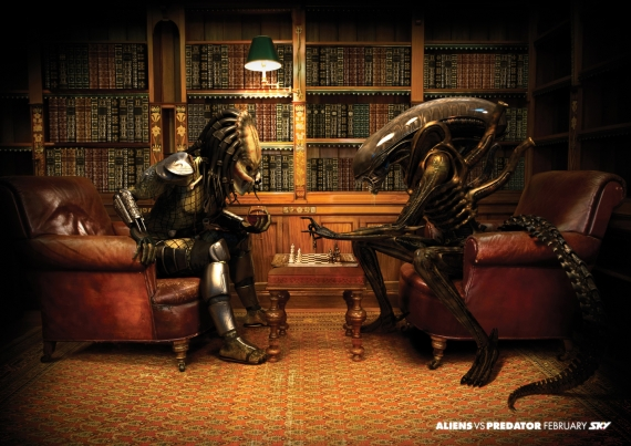 Predator Playing Chess