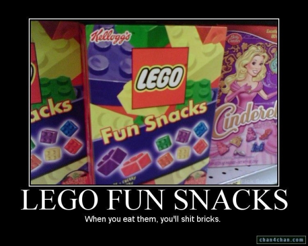 Lego fun snacks - When you eat them, you'll shit bricks