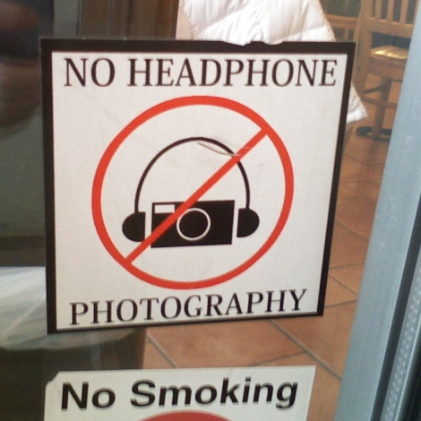 No Headphone Photography