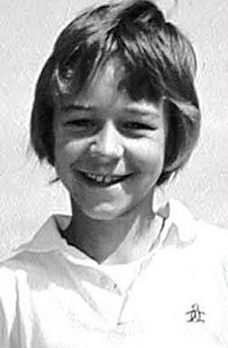 Young Russell Crowe as a kid yearbook picture