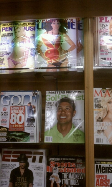 Tiger Woods magazine cover