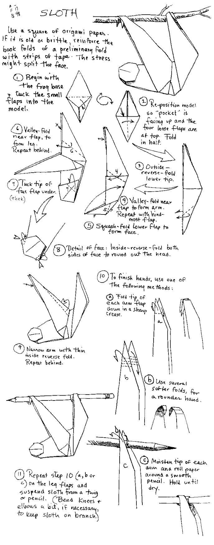 origami sloth instructions