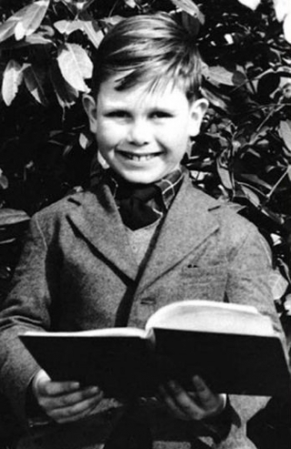 Young Elton John as a boy