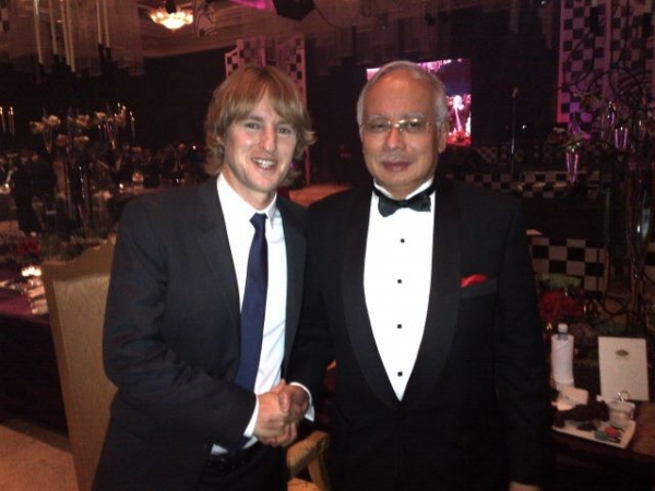Owen Wilson and the Prime Minister of Malaysia