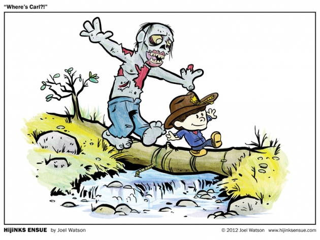 Calvin and Hobbes - The Walking Dead mash-up