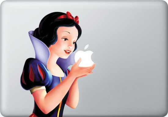 Snow White Apple Macbook decal vinyl sticker
