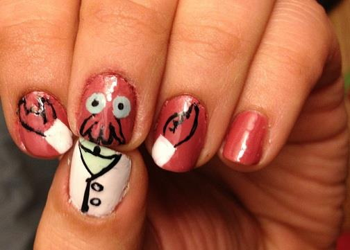 Zoidberg nail polish
