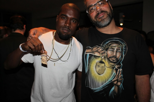 Kanye West with Jesus T-shirt