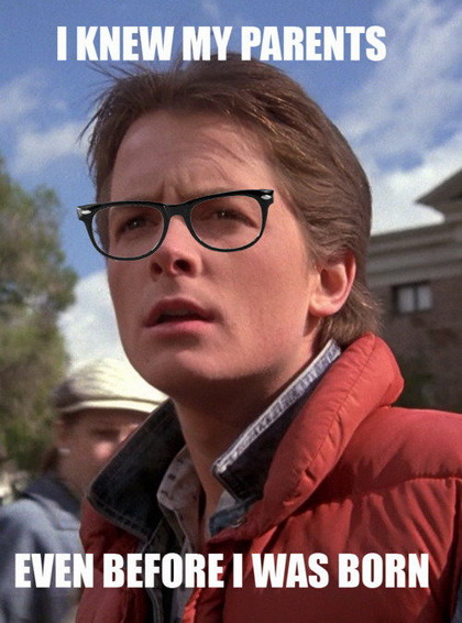 Hipster Marty McFly Wednesday April 27 2011