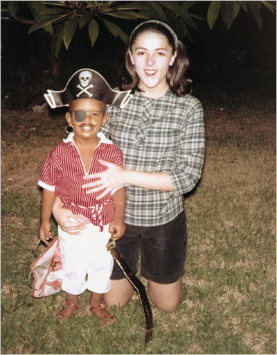 Young Obama as a pirate