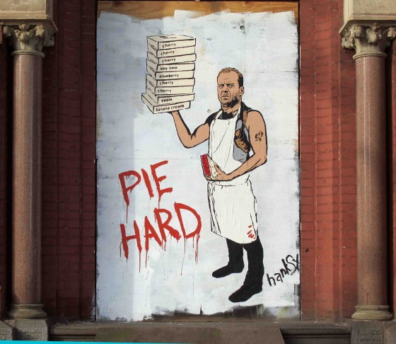 Bruce Willis Pie Hard Hanksy