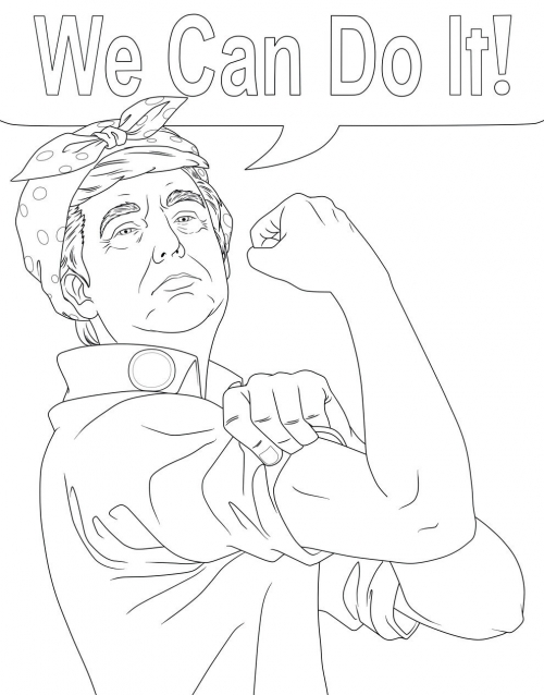 election kid coloring pages - photo#6