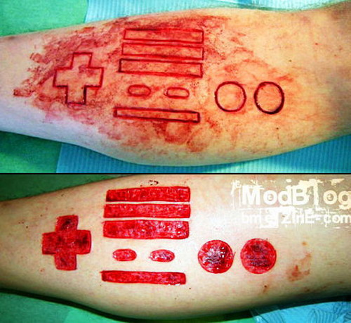 NES controller scarification
