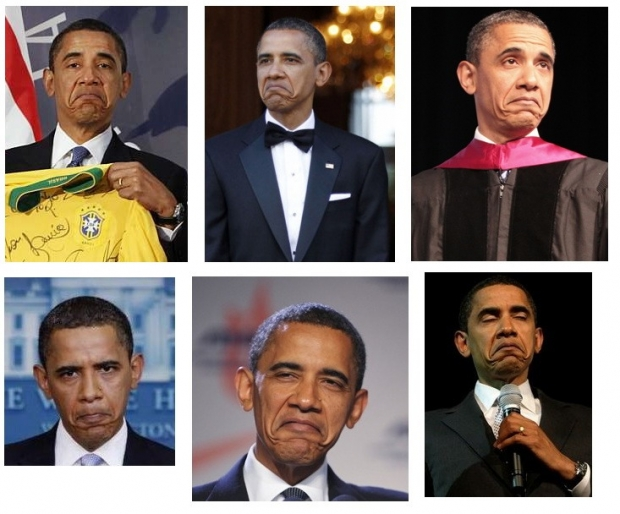 Obama funny face