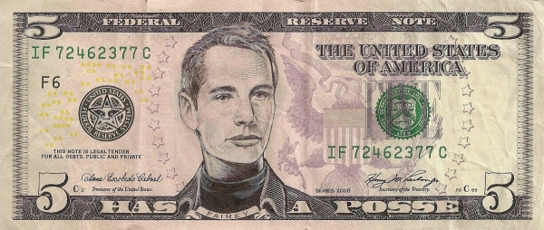 Shepard Fairey - Has a Posse dollar bill