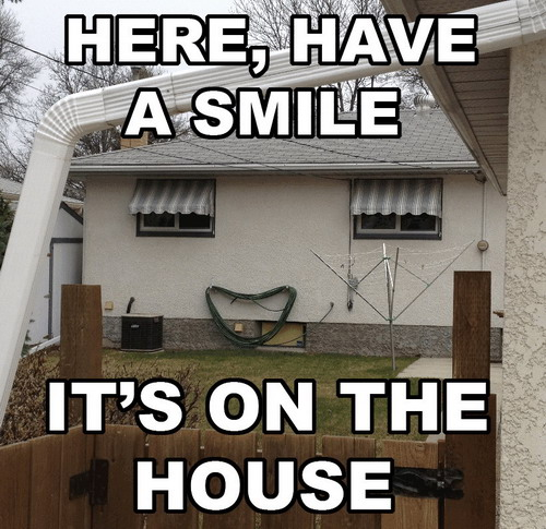 Here, have a smile. It's on the house.
