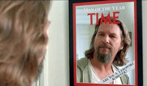Stuff you can own: Big Lebowski Time magazine's Man of the Year mirror