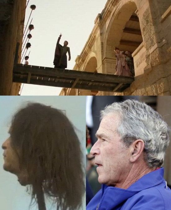 Game Of Thrones Easter Egg George W Bush S Head On A Stick