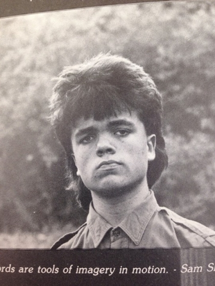 Young Peter Dinklage yearbook photo