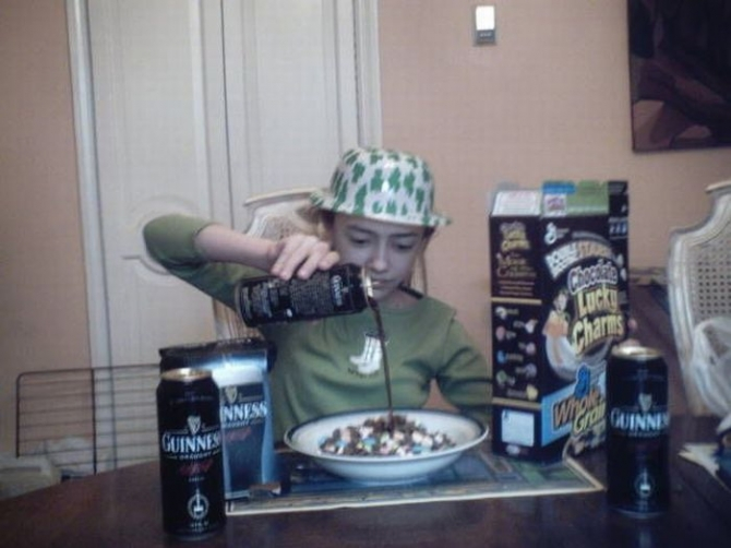Guinness with cereals