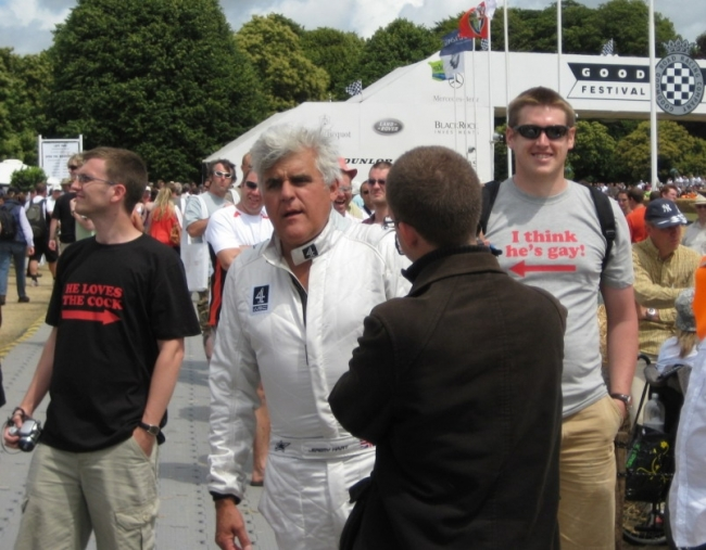 JAy Leno at the races